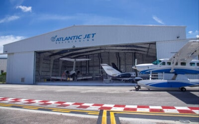 Sheltair announces the opening of Atlantic Jet Refinishing's new paint facility at Fort Lauderdale Executive Airport.