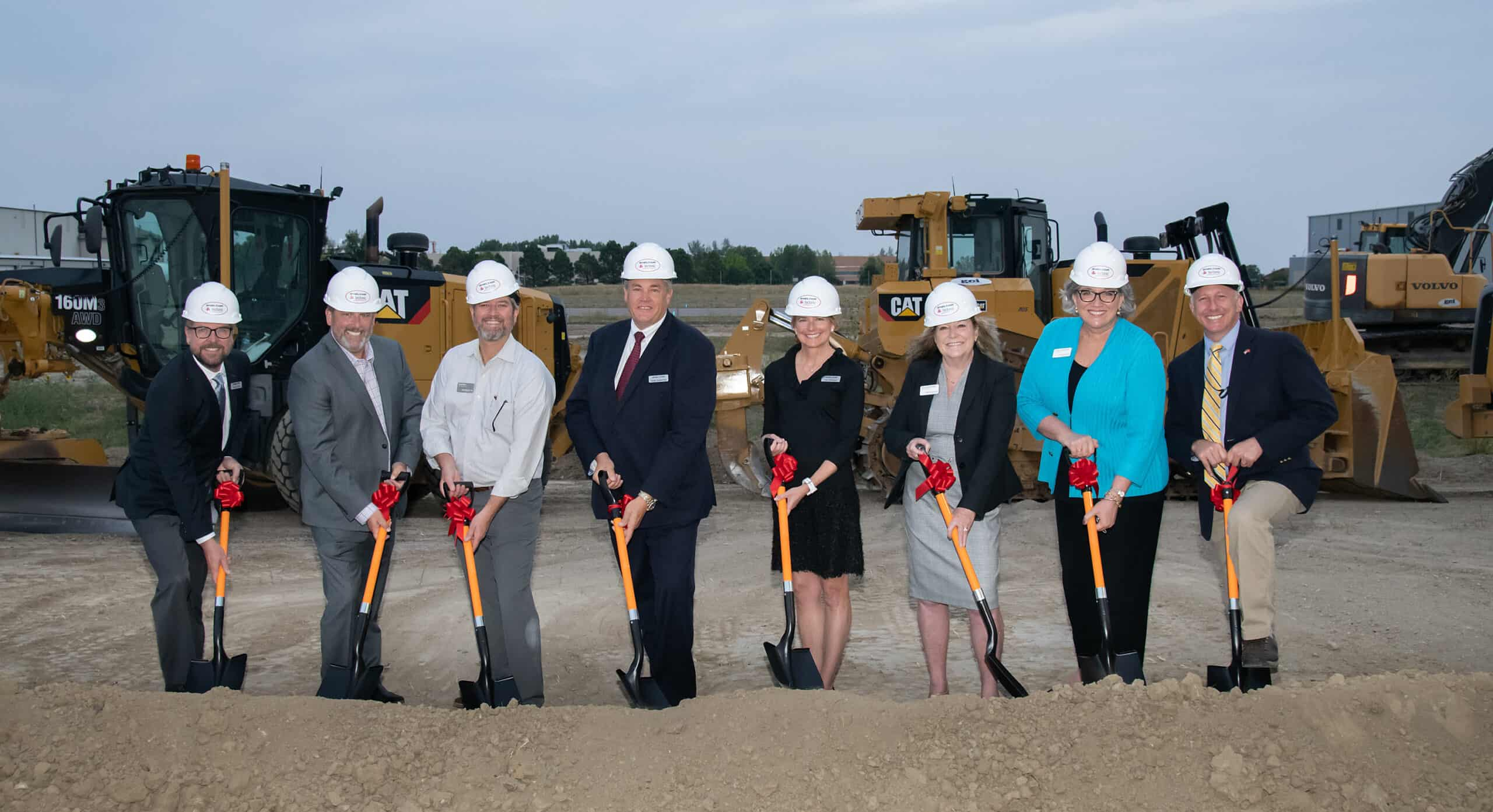Sheltair celebrates 1 year at BJC with a ceremonial groundbreaking of their new hangar expansion.