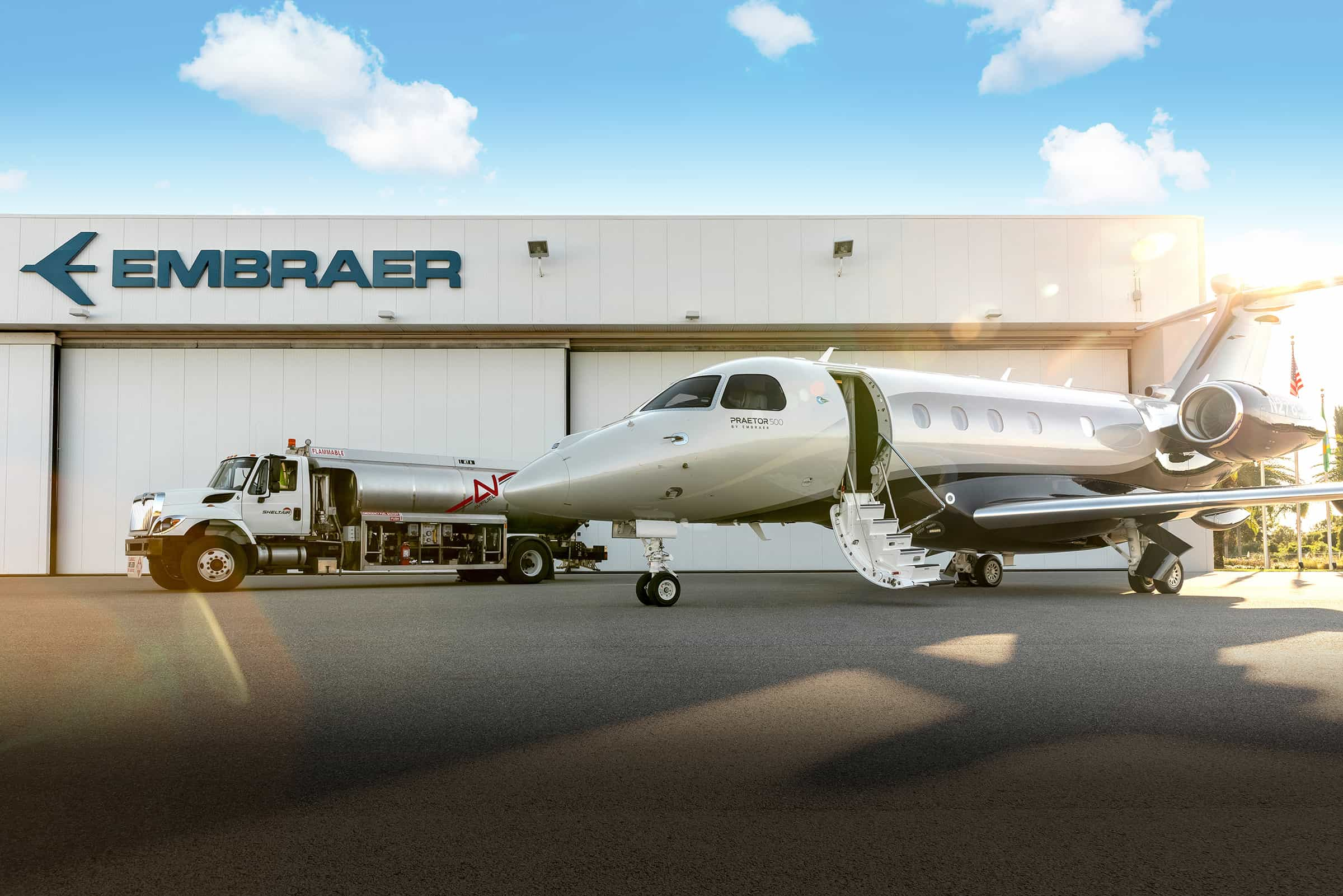Sheltair Aviation, a leading aviation services and real estate company, has provided Embraer with safe storage and handling services for sustainable aviation fuel (SAF) ahead of the NBAA Business Aviation Convention & Exhibition